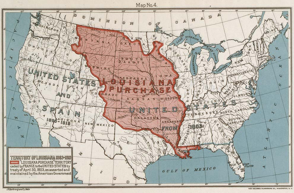 the purchase of the louisiana territory took place on april 30 1803 thomas jefferson was the president at the time the united states bought the land